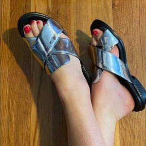 French Connection Metallic Slip-On Sandal